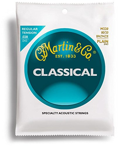 Martin M220 Classic Bronze Wound Nylon Acoustic Guitar Strings (Standard)