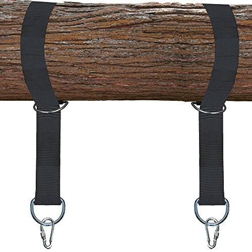 Cheap SafeTree TREE SWING HANGING KIT – Hold 3200lbs. – Two 6 Foot Straps with Quick & Easy Installation to Hang Any Swing (Tree Swing Straps Better than Swing Chains & Ropes!)