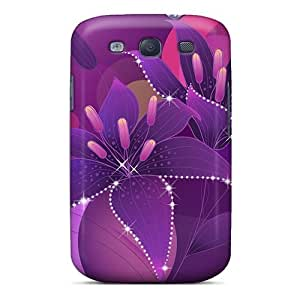 Fashion Protective Sparkling Flowers Case Cover For Galaxy S3