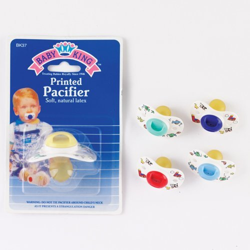 Printed Baby Pacifier Colors Vary