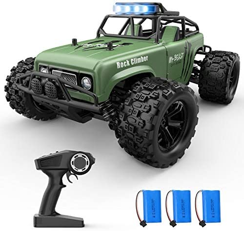 Holyton Remote Control Car, RC Cars 38KM/H High Speed with 3 Batteries 60 Min Play, four wheel drive All Terrains Off Road Monster Truck 1:18 Scale Crawler Vehicles Xmas Gift Toys for Kids, Adults, Boys Girls