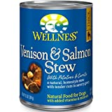 Wellness Thick & Chunky Venison & Salmon Stew Natural Wet Canned Dog Food, 12.5-Ounce Can (Pack of 12)