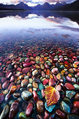 Startonight Glass Wall Art Acrylic Decor Colored Stones in Water, 23.62 X 35.43 Inch 100% Original Artwork the Ultimate Wall (Halloween Decor Hobby Lobby)