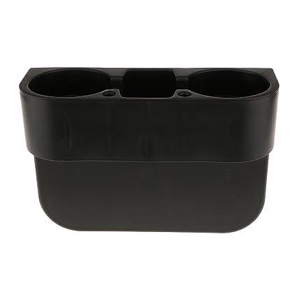 Soporte De Bebidas Móvil Caja Portavasos Portátil Multifuncional para Coche Vehículo Color Negro