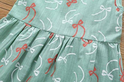 Bébé Filles Robe, Bébé Tout-petit Yango® Vêtements Sans Manches Tenues Robe Princesse Bowknot Vert Clair