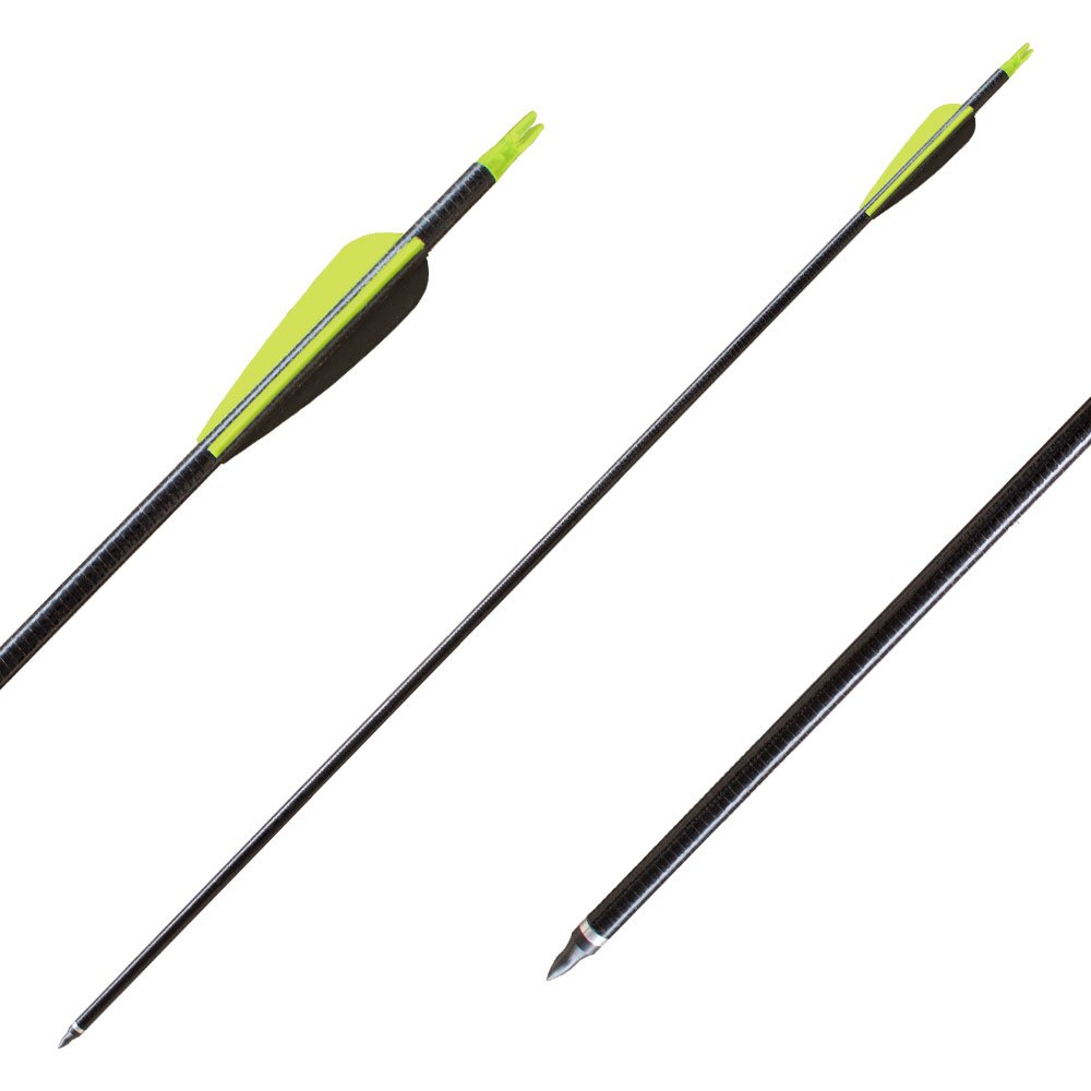 Best-selling Black 31 Fiberglass Targeting Practice Arrows with Replacement Screw-In Points for Recurve and Traditional Bow-12Pack