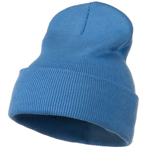 (12 Inch Long Knitted Beanie - Sky Blue OSFM W17S28F )