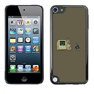 LASTONE PHONE CASE / Carcasa Funda Prima Delgada SLIM Casa Carcasa Funda Case Bandera Cover Armor Shell para Apple iPod Touch 5 / Cool Gray Computer It Nerd Tech Vintage