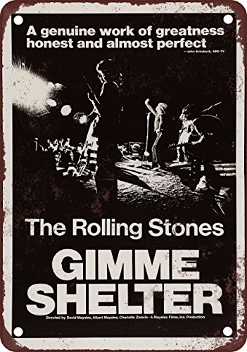 Rolling Stones Gimme Shelter Vintage Look Reproduction Metal Sign