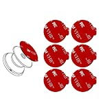 6pcs 3M Pop Sticky Adhesive Replacement Parts, VOLPORT 2pcs VHB Sticker Pad for Socket Mount, Circle Double Sided Tape for Collapsible Grip Stand's Back & Pop Out Phone Car Magnetic Holder Base