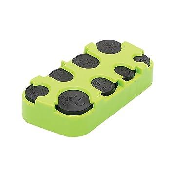 monedas dispensador de monedas 8 piezas, color verde