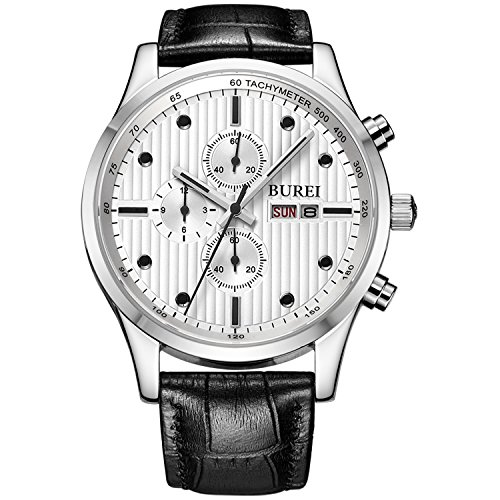 Watch Black Face Leather Band - 9