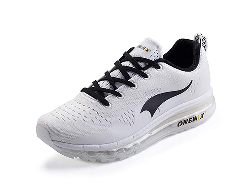 Amazon.com | UB-ONEMIX Unisex Running Shoes Sneakers Zapatillas Athletic Trainers Outdoor Sports 8.5 D(M) US Black/White | Outdoor