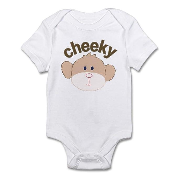 Amazon.com: cafepress-cheeky monkey-cute infantil body bebé ...