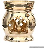 Skywalk Metal Brass Aroma Lamp Oil Burner and Diffuser, 6-inch (Gold, PBS-OB-2)