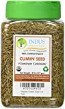 Indus Organic Cumin Seeds Whole (Jeera) 8 Oz Jar, Freshly Packed