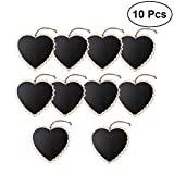 ULTNICE 10pcs Mini Erasable Chalkboard Heart Shaped Blackboard Message Frame Hanging Display for Home Wedding Party