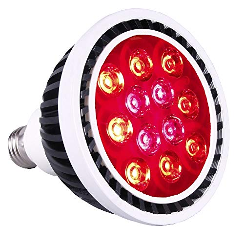 Red Grow Light - YUNNOO 36W LED Grow Light Bulb 610-730nm Deep Red Spectrum Grow Lamp for Indoor Plants Flowering Fruiting