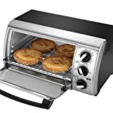 Black & Decker TRO480BS 4-Slice Toaster Oven, Black/Silver