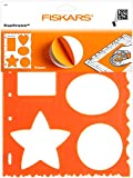 Fiskars 8.5x11 Inch Sheet Mixed Shapes and Borders Shape Template (48617097F)