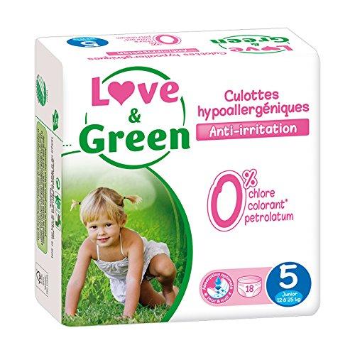 Culottes d'apprentissage jetables écologiques Love & Green Taille 5 JUNIOR 12-25kg