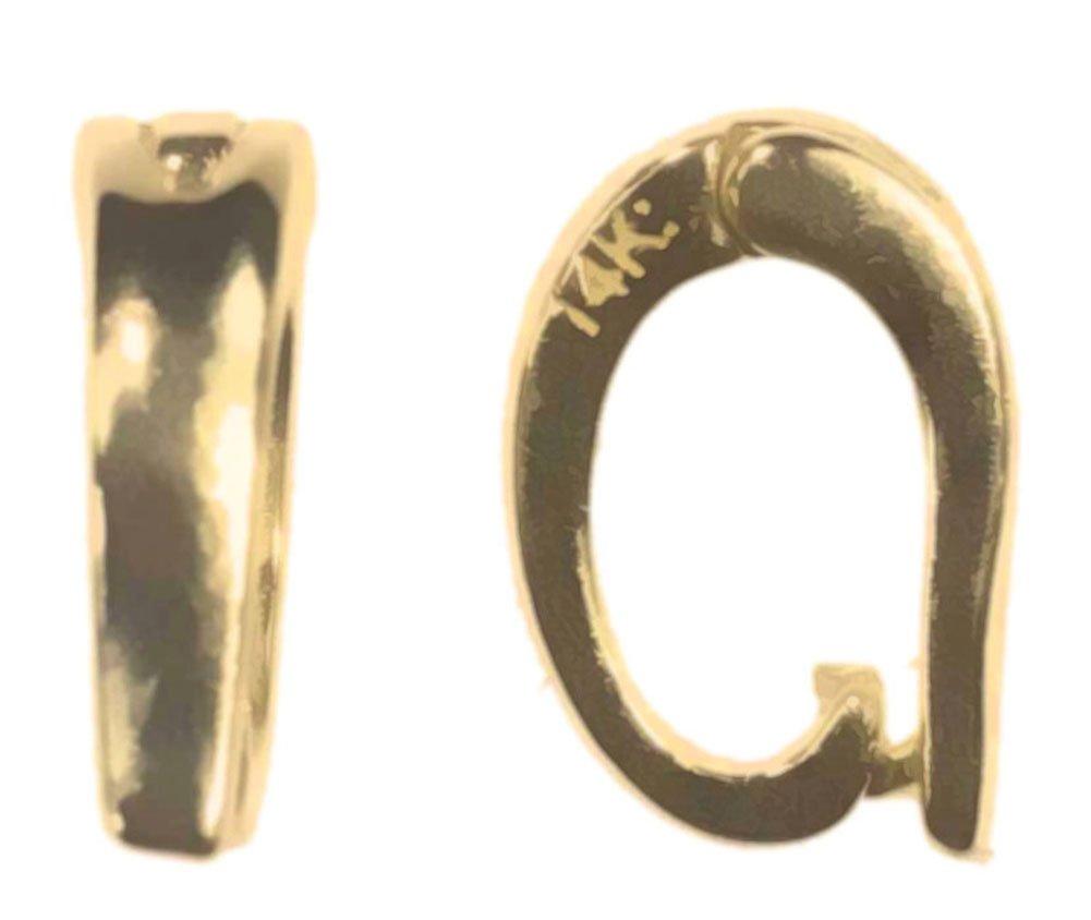 14k Gold Interchangeable Enhancer Pendant Bail Small by uGems