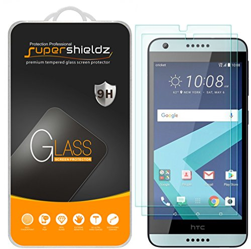 - [2-Pack] Supershieldz for HTC Desire 650 Tempered Glass Screen Protector, Anti-Scratch, Anti-Fingerprint, Bubble Free, Lifetime Replacement