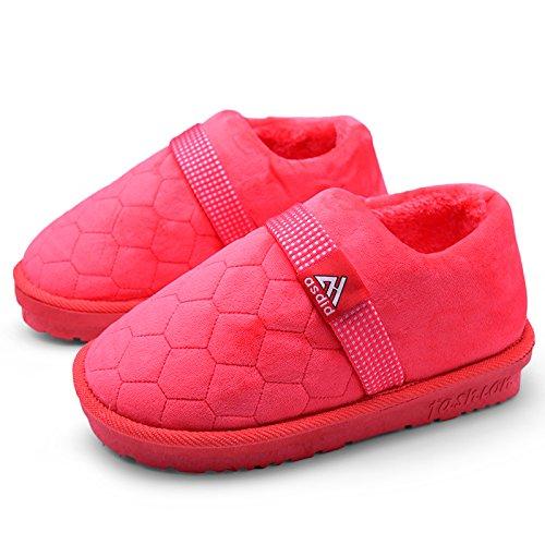 Fankou Hiver pour augmenter le coton code chaussons Hommes 45 46 47 gros épais antidérapant 48 accueil chaleureux avec des chaussures en coton, 270mm (38-39 pieds de l'usure), la pastèque rouge