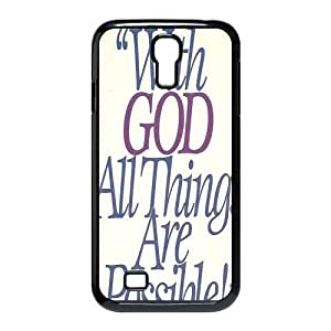 Custom Bible Verse Hard Back Cover Case for Samsung Galaxy S4 CF-480