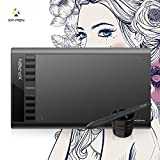 "XP-Pen Star03 10x6"" Graphic Tablet Drawing Tablet Pen Tablet Battery-free Stylus Passive Pen Signature Board with 8 Hot Keys(black,white) (Black)"