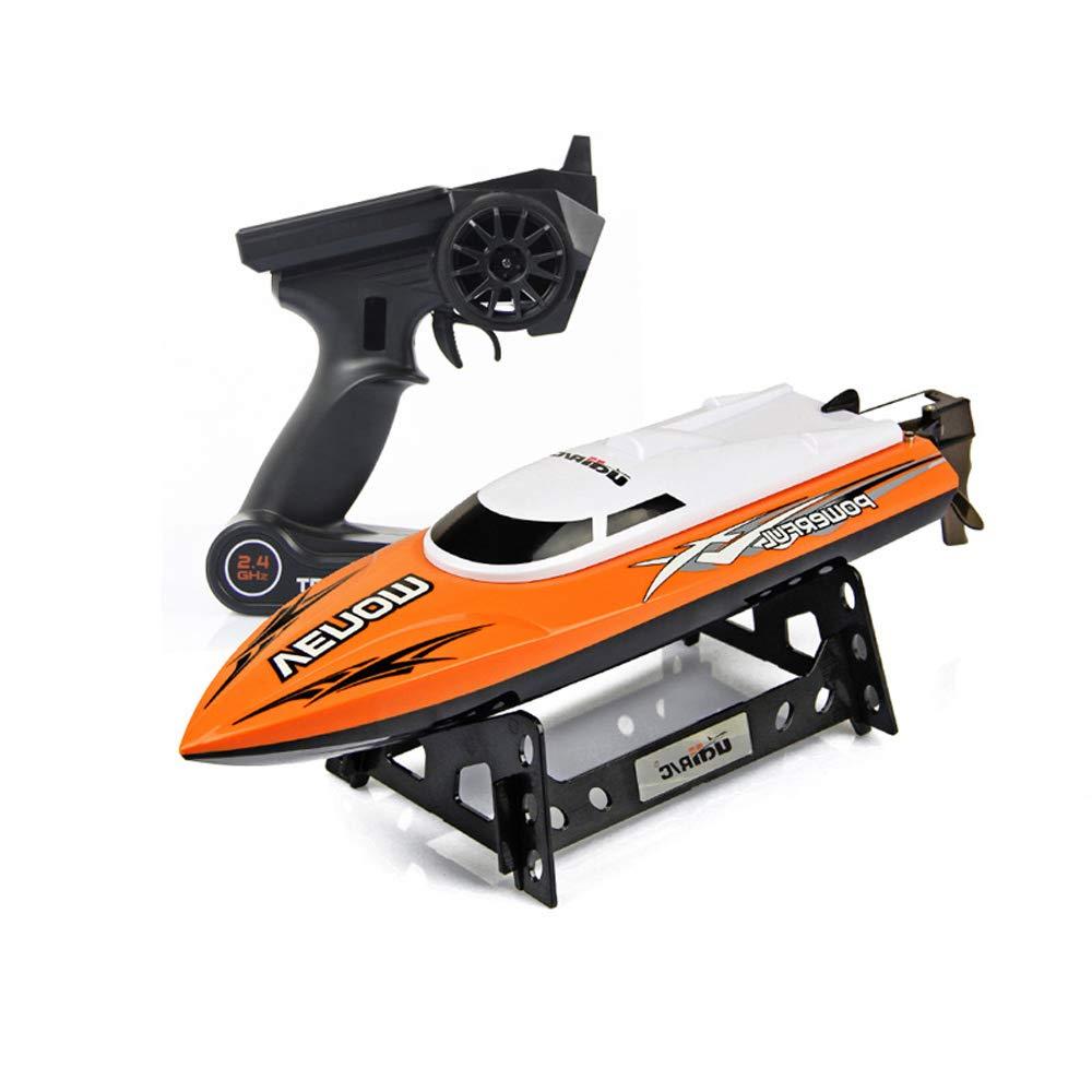 Pinjeer リモートコントロールボートスピードボートの大人のボートモデル高速ヨットの子供たちは、動的なワイヤレス防水を船に乗って子供のためのおもちゃ12 + (Color : Black, サイズ : 3-Battery) B07QWRQJ3H Orange 3-Battery 3-Battery|Orange