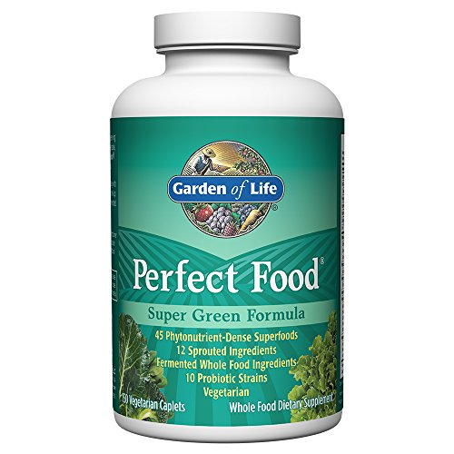 Garden of Life Whole Food Vegetable Supplement - Perfect Food Green Superfood Dietary Supplement, 150 Vegetarian (150 Caplets)