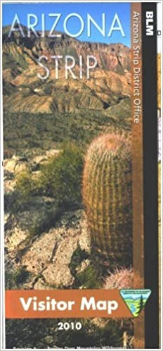 Map Of Arizona Strip.Arizona Strip Visitor Map Blm Arizona Strip District Office Amazon