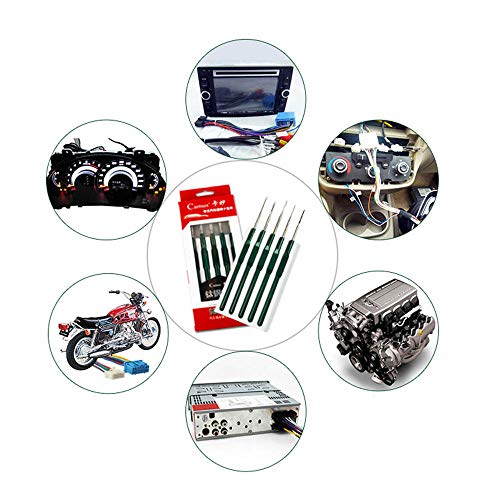 Kalolary DIY 5PCS Car Cable Wire Terminal Socket Plug Pin Removal Maintain Dismount Tool Kit Auto Terminals Removal Tool Set by Kalolary (Image #6)