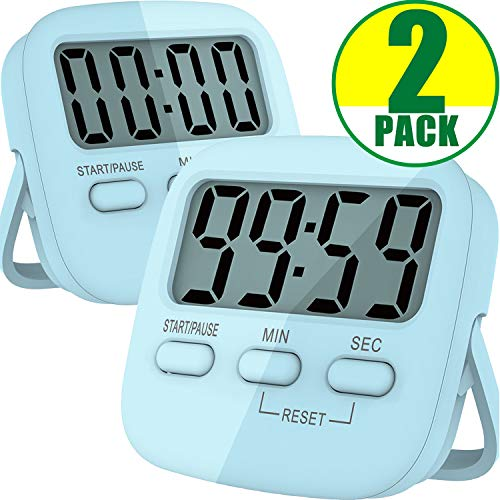 Kitchen Timer, 2 Pack Digital Kitchen Timers [ 2020 Version ] Magnetic Countdown...