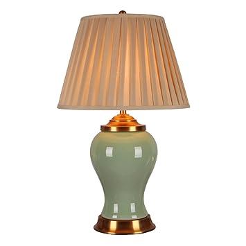 Lámpara de mesa Guo Shop- Toda cerámica de Cobre lámpara ...