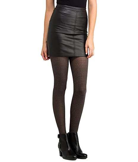 4dd07c8a84081 DKNY Tarnish Textured Tights, Medium, Black / Thunder at Amazon Women's  Clothing store: