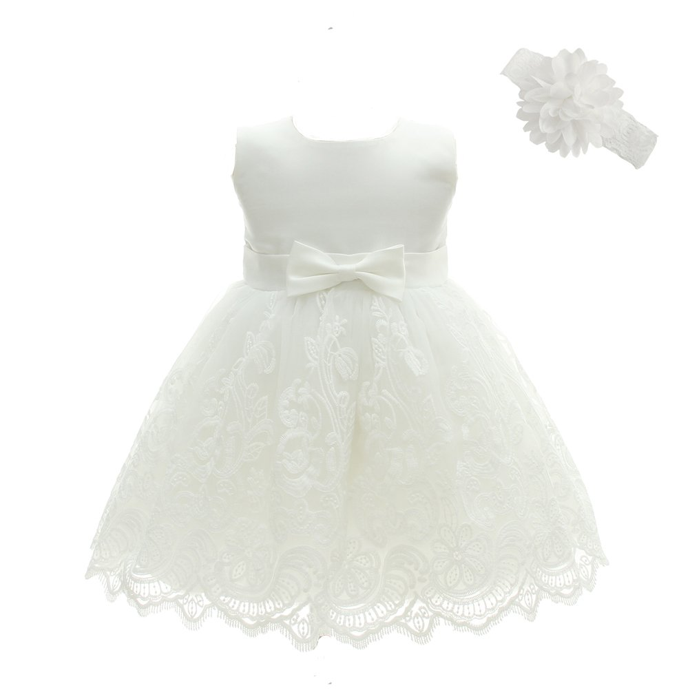 Baby Girls Baptism Dresses Christening Gown for Baby Girl Moon Kitty