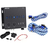Hifonics BXIPRO1.0 Digital Bass Equalizer Sub Processor + 17 & 6 RCA Cables
