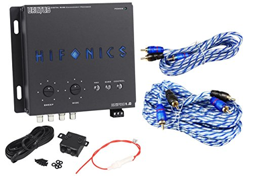 Noise Audio Zero Interconnect (Hifonics BXIPRO1.0 Digital Bass Equalizer Sub Processor + 17'& 6' RCA Cables)