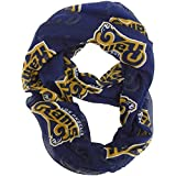 1 Piece Nfl Rams Scarf 70 X 25 Inches, Football Themed Woman Accessory Sports Patterned, Team Logo Fan Merchandise Athletic Team Spirit Fan Navy White Gold, Polyester