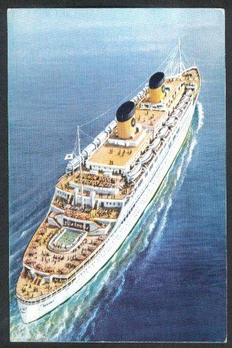 Crew Italian (Home Lines Homeric Italian Crew Panamanian Registry ship postcard 1968)