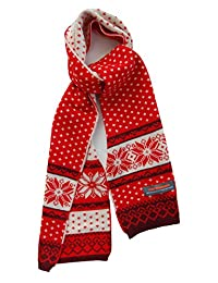 Kids Winter Scarf for School Boys Girls - Soft, Wool & Acrylic by Wee Dreamers (red)