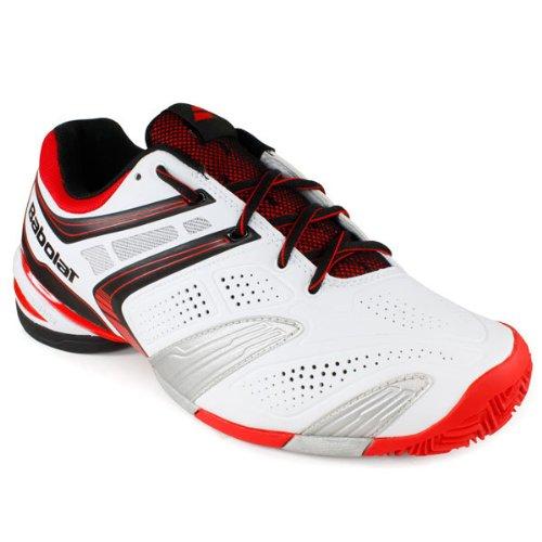 Babolat - Zapatillas de tenis para hombre, color, talla 39 Whitet/Red