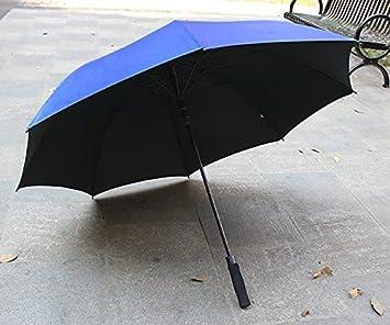 HAN-NMC Paraguas automático Paraguas Hombre de Negocios,Azul Royal