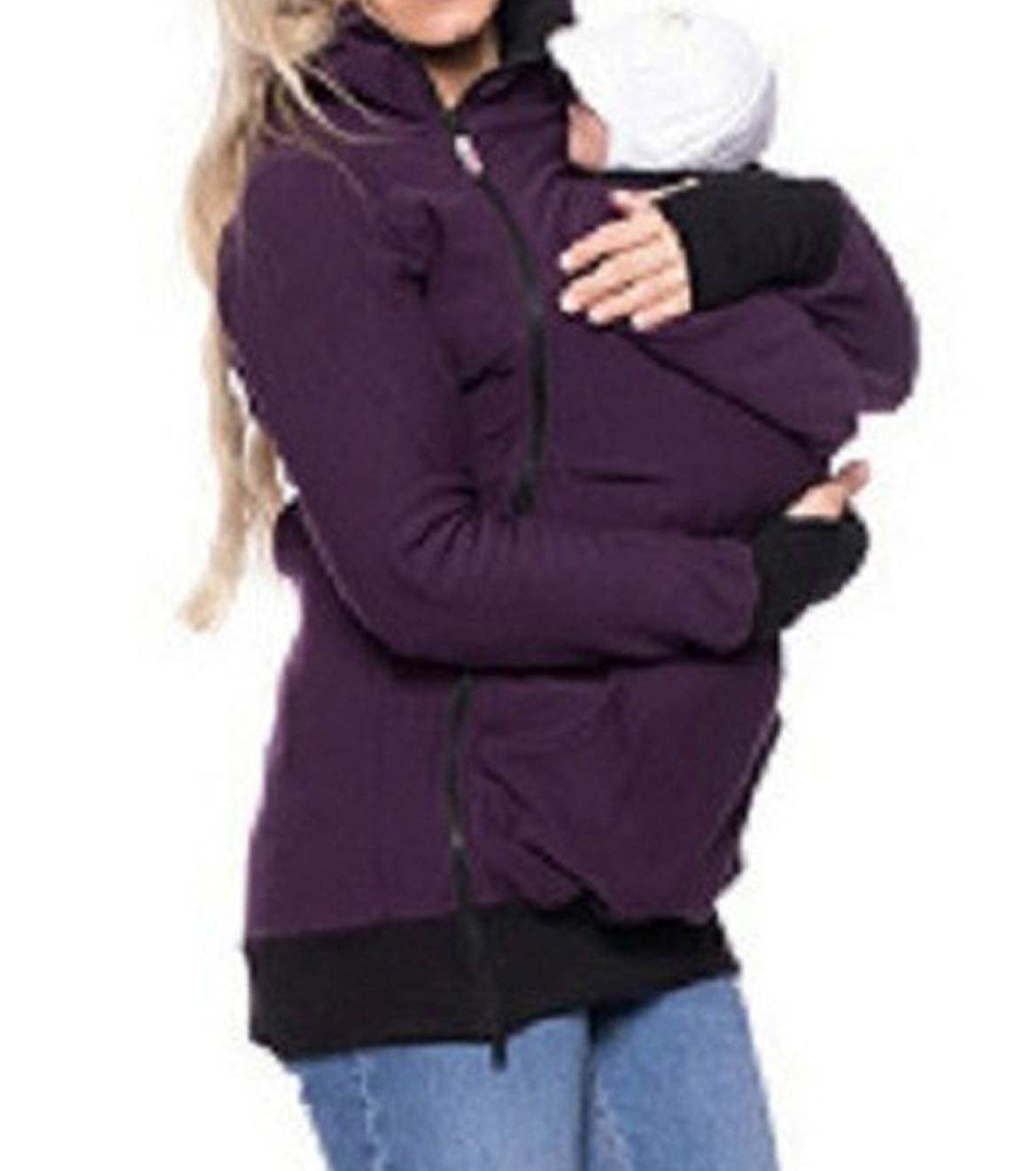 Astage Woman Jacket Mama Maternity Pregnant Hoodie Baby Wrap Sling Hooded Sweatshirt