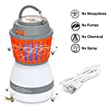 Gutsdoor Bug Zapper and Camping Light Rechargeable LED Mosquito Trap and LED Lantern Waterproof IP67 Camping Gear and Accessories for Indoor & Outdoor Home & Hiking
