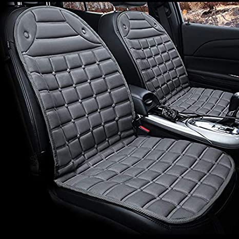 12V Car Heated Seat Cushion Adjustable Auto Two Heater Cover Warmer Pad For Cold Weather