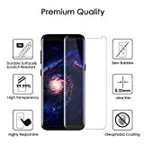 Samsung Galaxy S8 Plus Screen Protector , Daker [Case-Friendly] [3D coverage] [No Bubble] PET HD Screen Protector Tempered Glass Film for Samsung Galaxy S8 Plus Black (Clear 2p)