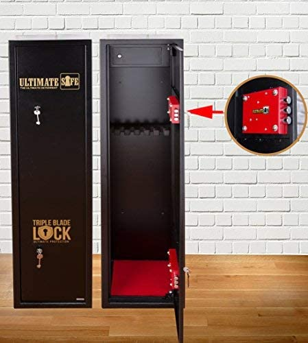 Ultimate Safe Cassaforte Armadio Sicuro Per 6 Fucili Armadio Con Chiusura Triple Blade Lock Amazon It Sport E Tempo Libero